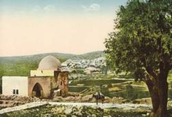 A Jewish postcard from 1900 featuring Rachel's Tomb.