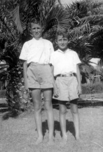 Gershon Israeli (left) at age-11 and his cousin Ya'acov in Kibbutz Gvat