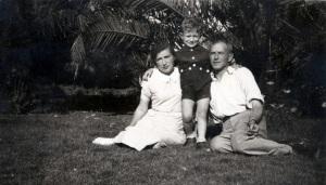 Fania, little Gershon and Aharon Israeli in Kibbutz Gvat