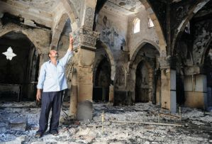 destroyed Coptic church – Giza's Church of the Archangel Michael