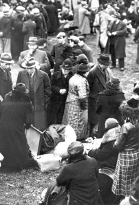 Jewish deportees from Germany in no-man's-land outside that Polish border town of Zbaszyn
