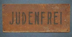 "Nazi era ""Judenfrei"" sign"