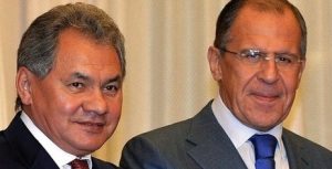 Sergei Shoigu (left) and Sergei Lavrov