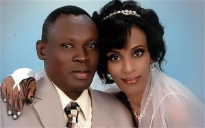 Meriam Ibrahim on the day she wed Daniel Wani