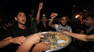The requisite sweets and pastries dripping with sticky syrup were distributed to exuberant revelers