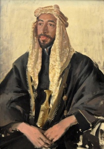Feisal I, arbitrarily declared King of Syria and later King of Iraq [1919 portrait by renowned British painter Augustus John]
