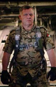 King Abdullah in combat mode:  The buzz was that Clint Eastwood's royal torchbearer would himself participate in airstrikes [Royal Hashemite Court]