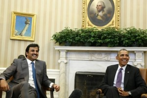The Emir at the White House - there was no shadow of a hint of displeasure