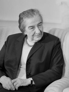"Golda Meir: Beware the allure of ""lies wrapped up in sweet words."" [Jerusalem Post Archives]"