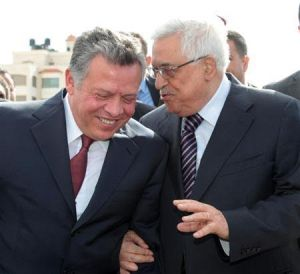Mahmoud Abbas (right) to King Abdullah- We are one nation in two states