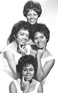 "THE SHIRELLES in 1962 when they sang ""you say hop and I'll hop."""