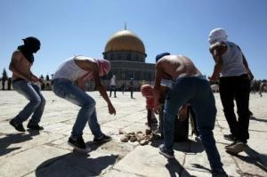 "Why would ""peaceful worshipers"" stockpile weaponry and in a holy site at that?"