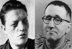 """The people had forfeited the confidence of their government."" Kurt ""KuBa"" Barthel (left) and Bertolt Brecht."